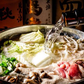 【コース限定】日本酒を使った美酒鍋が絶品!