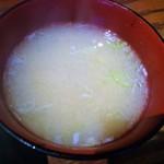 81553293 - 味噌汁、しっかり蟹の出汁が出たもの