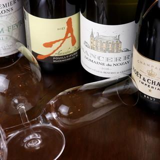 お食事の席に華やぎを◎気軽に楽しめるワイン、ございます。