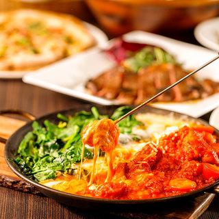 イタリアン・スペイン料理を豊富にご用意!