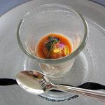 8156412 - 豆乳のムース キャロットとオレンジのソース