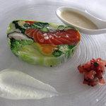 8156414 - 有機野菜とタスマニアサーモンのテリーヌ