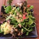 テッパン ル オムス - ランチ+300円のサラダ&コーヒー