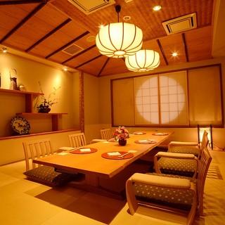 【全席完全個室】空間を優雅に使った個室で大切なひとときを。