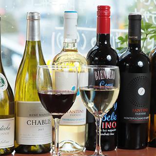 イタリア料理に良く合うワインやカクテルをたくさんご用意◎