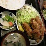 だるま屋 - カキフライ定食700円