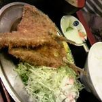だるま屋 - アジフライ定食