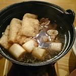 うどん家 ふ和ら - なべ焼き肉汁つけうどんの出汁