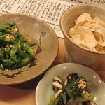 めなみ - 菜の花のからし和え+生湯葉のおひたし