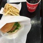 道の駅 西山公園 - 料理写真:吉川茄子バーガーセット