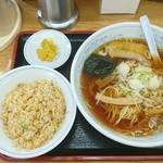 福しん - ラーメン&炒飯セット@630