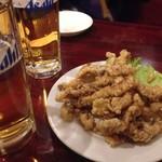 香園 - げそ揚げ+ビール