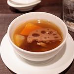 81587711 - シェフの特製香港家庭風薬膳蒸しスープ