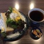 Kafesuzunari - たまごサンドとホットコーヒー