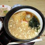 そば処 遠藤 - むじな蕎麦(油揚げ+揚げ玉入り)