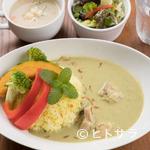 カフェグリーングリーン - GREEN GREENカレー(「福幸地鶏」のチキングリーンカレー)