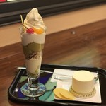ふなわかふぇ - 芋ようかんソフトパフェと お芋のレアチーズケーキ
