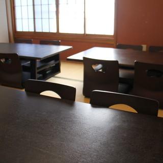 2階のお座敷<10席>貸切宴会も承っております。