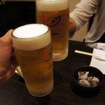 """Shake - """"生ビール""""(500円)で乾杯!"""