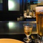 8160547 - 【ディナーコース 蔵】食前酒の梅酒 と 生ビール ¥735