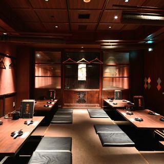半個室・個室完備で幅広いシーンに対応可能