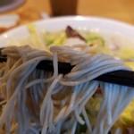 桶狭間タンメン - 麺は極細