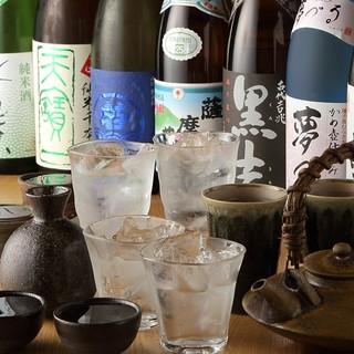種類豊富な焼酎や日本酒をご堪能下さい。