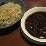 アプサラ レストラン&バー - 野菜チャーハン、ポークカレー
