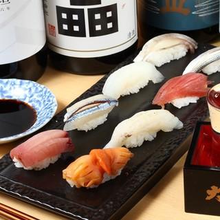 一つ一つ丁寧に仕込んだ江戸前風寿司