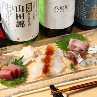 その日仕入れた新鮮な魚料理