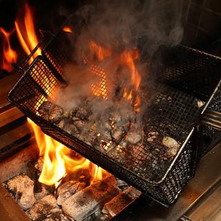 ■名物日向鶏もも肉炙り焼き■