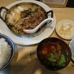 角常食堂 - すきやき定食 1000円 ご飯大盛 +100円