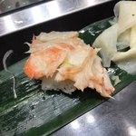 立食い寿司 根室花まる - たらばふんどし(腹肉) @259-
