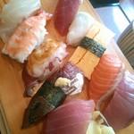 魚屋 - 料理写真:18/2 寿司10貫定食:880円(税別)
