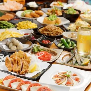 大満足の3時間食べ放題&飲み放題3,300円~!