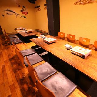 【店内情報】宴会最大50名・個室風のお席もございます♪