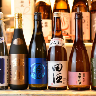 日本酒50種~、焼酎25種~、ワイン50種~の厳選銘柄◎