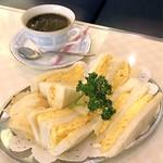 純喫茶 アメリカン - 玉子サンドウィッチとコーヒ