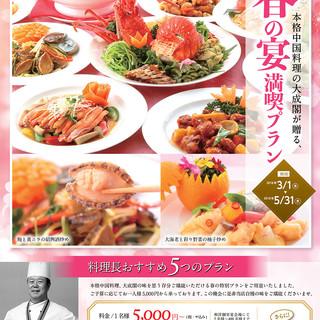 【春の宴満喫プラン】5,000円からご用意!飲み放題あり!