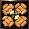 呼じろう - 料理写真:金胡麻、胡桃、数の子、生姜のピールのおいなりさんでした
