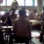 プラネットカフェ - 【おまけ写真】途中には、こんな生演奏もやっていたり。