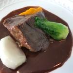 レストラン ファロ 資生堂  - <<和牛ホホ肉のブラザード 赤ワインソース