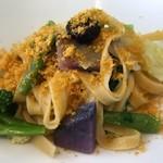 レストラン ファロ 資生堂  - カラスミと野菜のタリアテッレ