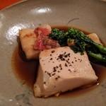 ながや - キンキ煮付け(絹ごし豆腐、菜の花)