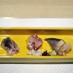 蕎倫 - 鯵 ハタ 北寄貝のお造り