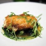 レストラン リューズ - 鱈の白子のムニエル 焦がしバターのソース セルバチコのソース