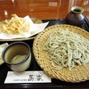 蕎楽 - 料理写真:白えびの天もりそば十割1830円