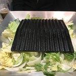 鉄板焼鳥 くちばし - 下に野菜たっぷり