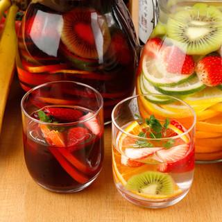 自家製サングリアなど、美味しいお酒がせいぞろい!