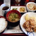 百花亭 - 鶏のからあげ定食¥750-